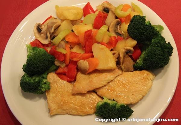 Krompir paprikaš i ćuretina sa karijem