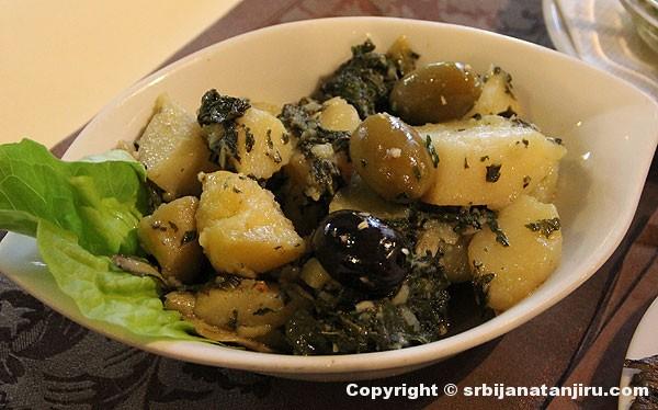 Salata: krompir sa blitvom